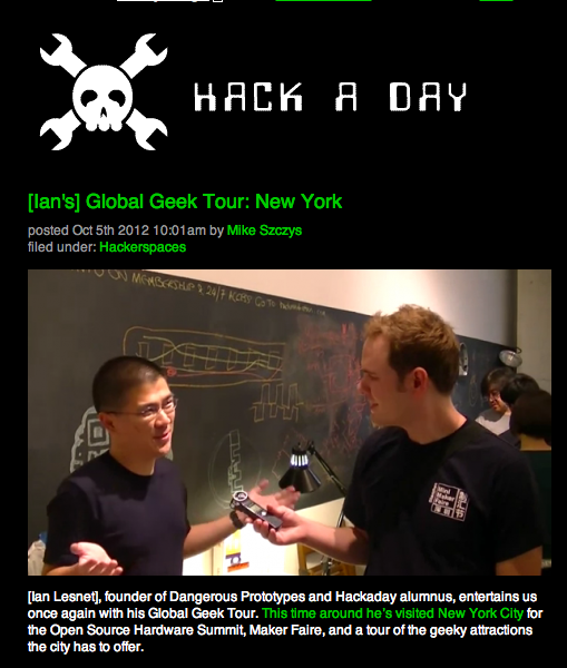 Hackaday Tour of Hack Manhattan