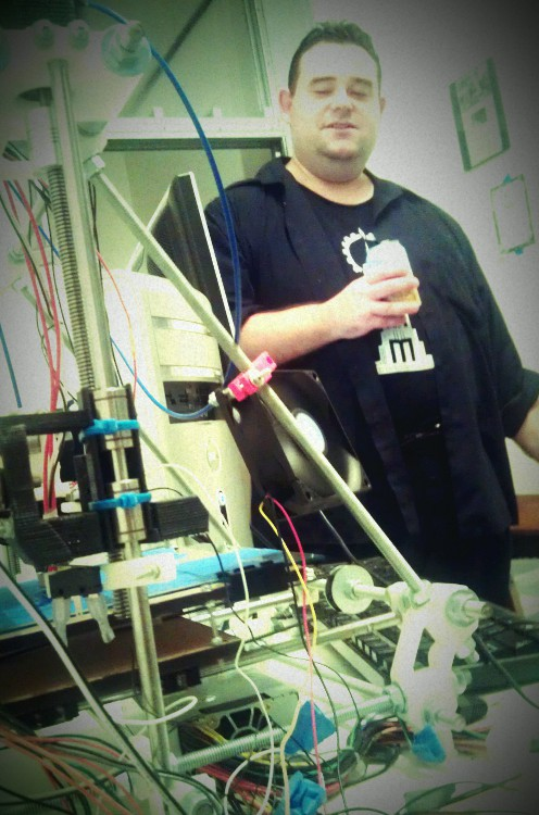 Dave Reeves with the Reprap